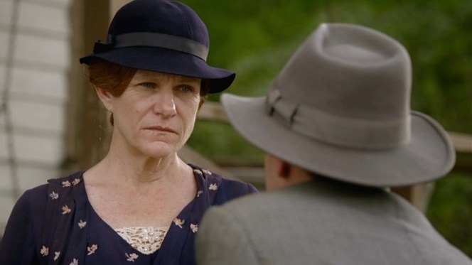 Clyde Barrow's mother Cumie was a major presence in his life, despite being left out of the 1967 film. Seen here, she was portrayed in the 2013 miniseries by Tennessee-born actress Dale Dickey who has been a strong presence in movies and TV shows for the last two decades.