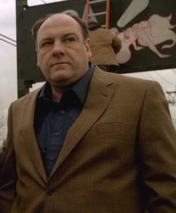 "James Gandolfini as Tony Soprano on The Sopranos (Episode 6.11: ""Cold Stones"")"