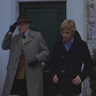 Max von Sydow and Robert Redford in Three Days of the Condor (1975)