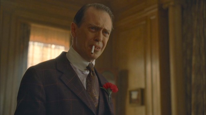 """A Return to Normalcy"" (Episode 1.12): Nucky can't believe the idiots he surrounds himself with."