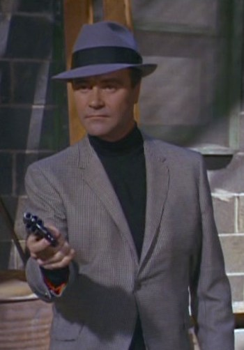 "Jack Lemmon as Stanley Ford (in his ""Bash Brannigan"" persona) in How to Murder Your Wife (1965)"