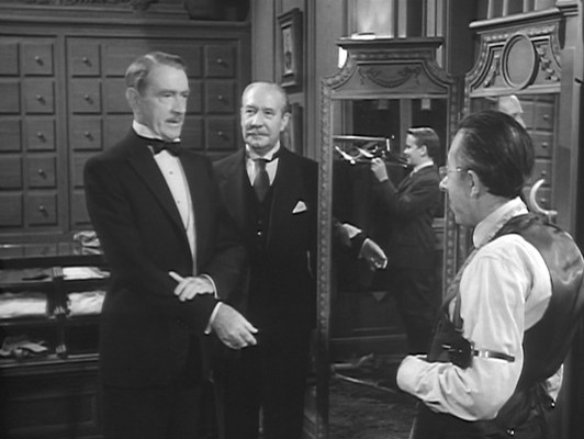 Richard Ward Sturges begrudgingly accepts the vestments of a shipboard tailor shop, but not without throwing some shade in the tailor's direction.