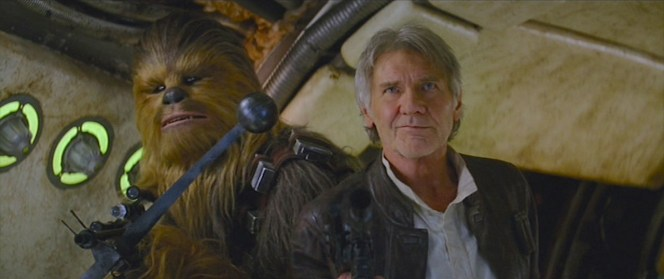 """Chewie... we're home."" This was one of those moments that made it worth seeing the movie in theaters as the audience erupted in applause and cheers."
