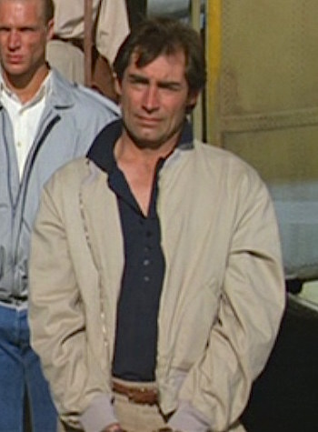 Timothy Dalton as James Bond in The Living Daylights (1987)