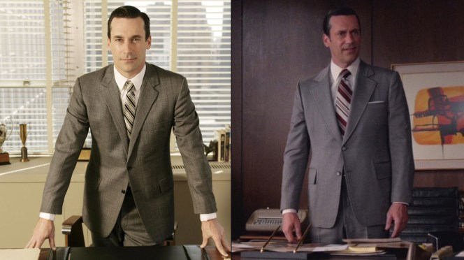 Compare Don's final suit with the suit he wore in the show's pilot episode, which premiered 11 years ago this month on July 19, 2007.