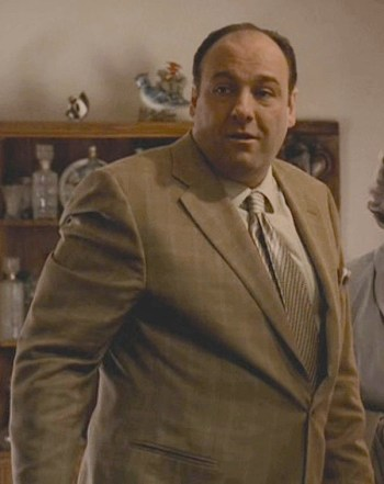 "James Gandolfini as Tony Soprano on The Sopranos (Episode 5.02: ""Rat Pack"")"