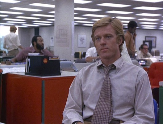 Woodward and Bernstein play good cop, bad cop with an understandably reticent Sally Aiken.