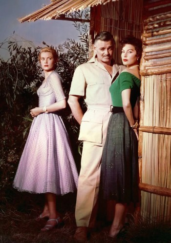 Clark Gable with Ava Gardner and Grace Kelly in Mogambo (1953)