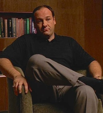 James Gandolfini as Tony Soprano in the first episode of The Sopranos