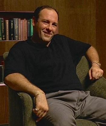 James Gandolfini as Tony Soprano in the first episode of The Sopranos