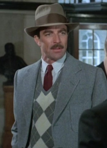 Tom Selleck as Nick Lassiter in Lassiter (1984)