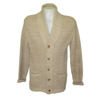 "One of two ""hero"" sweaters worn by Robert Redford in The Natural, courtesy of The Golden Closet."