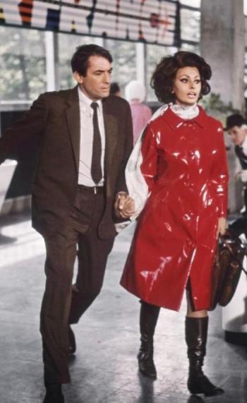 Gregory Peck and Sophia Loren in Arabesque (1966)