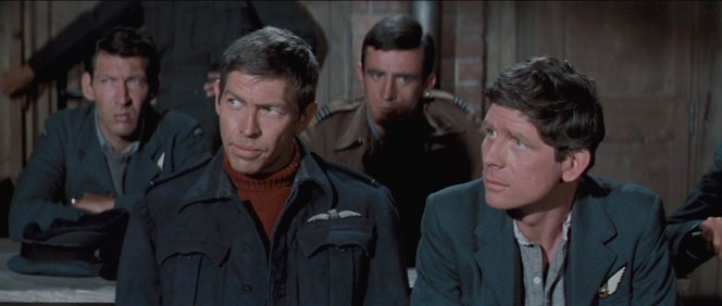 """James Coburn and Robert Desmond, who played the """"tailor"""" Griffith, in The Great Escape (1963)"""
