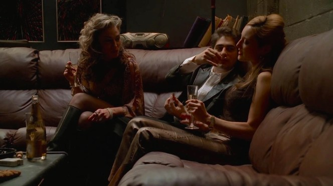 The sort of scene that sends a guy straight to rehab... where Christopher would end up by the end of the season.