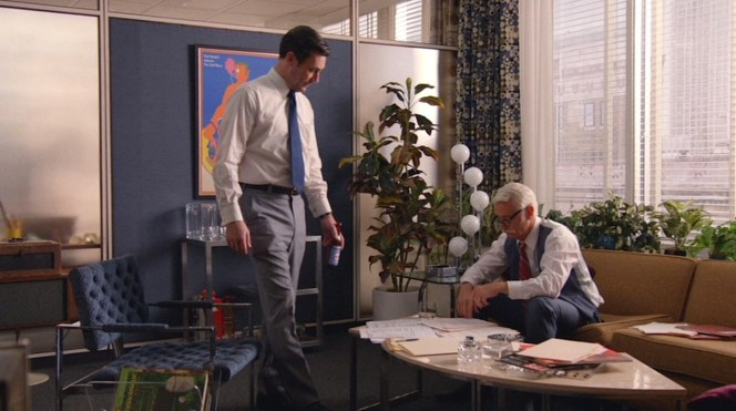 Getting marching orders from Roger Sterling.