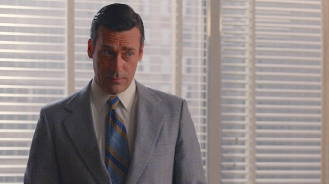 """No doubt vintage, this tie in """"Severance"""" (Episode 7.08) is admittedly not one of Don's more timeless or stylish ties."""