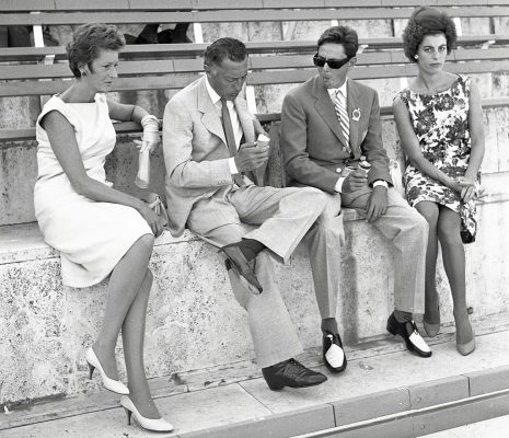The stylish Agnelli clan at the 1960 Summer Olympics in Rome, left to right: Marella Agnelli, Gianni Agnelli, Umberto Agnelli, and Antonella Piaggio.
