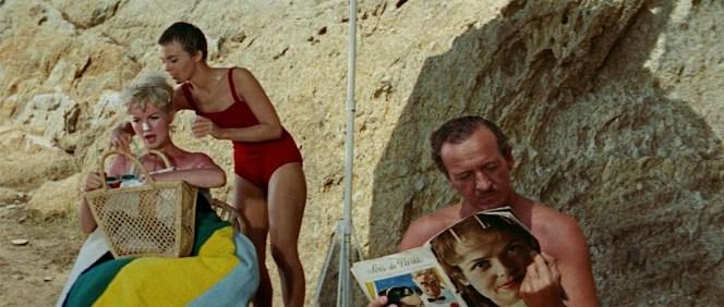 Elsa, Cécile, and Raymond enjoy the good life on their beach outside Saint-Tropez.