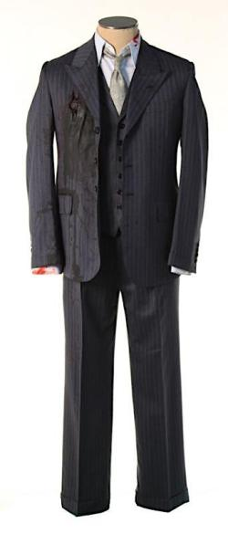 Nucky Thompson's charcoal blue striped suit from the final episode. (Source: ScreenBid)