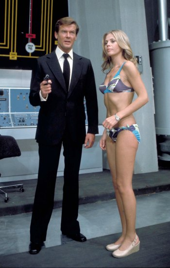 Roger Moore and Britt Ekland in his second film as James Bond, The Man with the Golden Gun (1974)