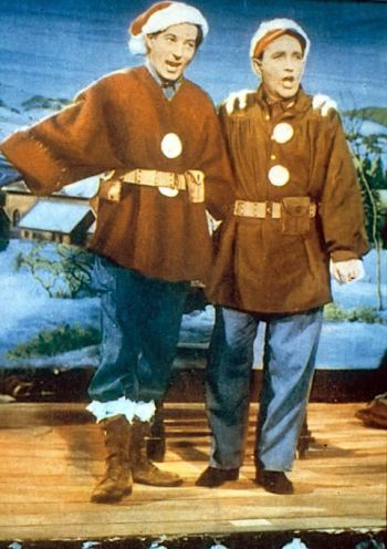 Bing Crosby is joined by an exuberant Danny Kaye in White Christmas (1954)