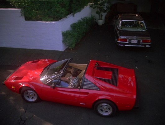 "Magnum arrives at the McWilliams household in ""The Taking of Dick McWilliams"" (Episode 2.10). For the second season of the series, ROBIN 1 was replaced with a 1981 Ferrari 308GTSi."
