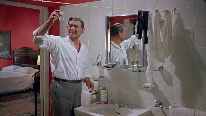 Mike Hamilton is dismayed by the quality of tap water in his Capri hotel bathroom.