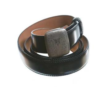 One of Jon Hamm's screen-worn belts as Don Draper, as featured in a ScreenBid auction after the series concluded.