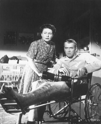 James Stewart and Thelma Ritter in Rear Window (1954)