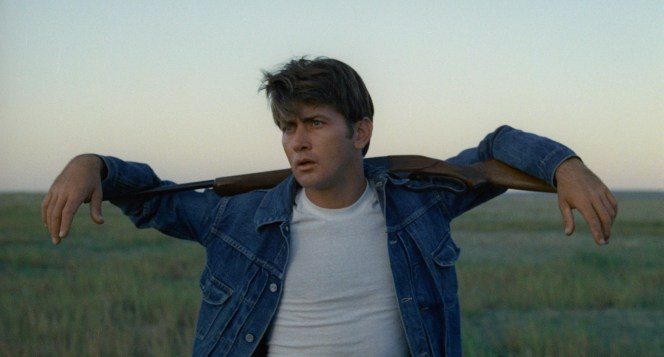 Martin Sheen recalled that this memorable brief vignette of Kit with his Savage rifle was essentially an impulse, captured while Terrence Malick was driving through Colorado looking for filming locations. Malick manned the camera himself, as he reportedly often did during the production of Badlands.