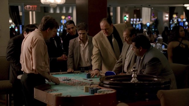 """Tony enjoys a night out with the guys in """"Chasing It"""" (Episode 6.16)."""