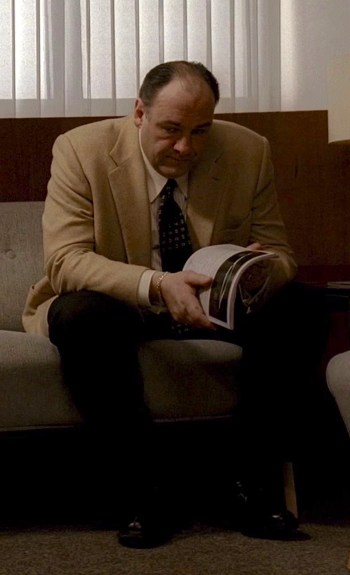 "James Gandolfini as Tony Soprano on The Sopranos (Episode 6.20: ""The Blue Comet"")"