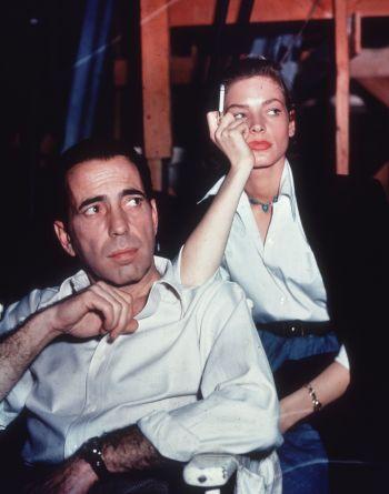 Humphrey Bogart and Lauren Bacall on set of Key Largo (1948)(Source: CRFashionBook.com)