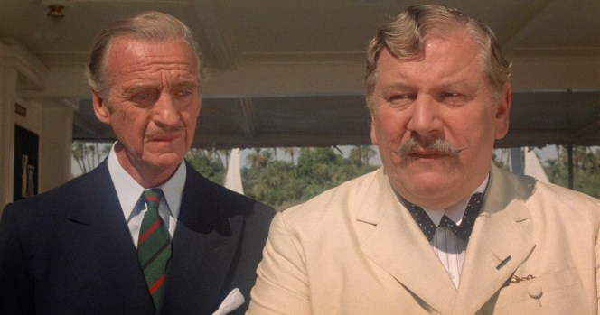 David Niven and Peter Ustinov in Death on the Nile (1978)