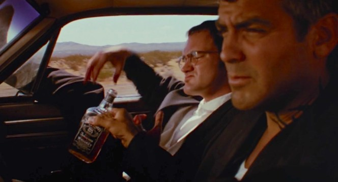 Quentin Tarantino and George Clooney in From Dusk till Dawn (1996)