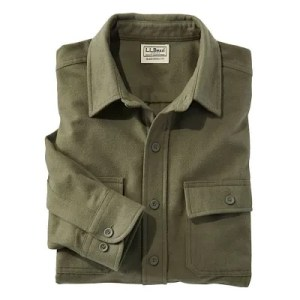L.L. Bean Chamois Shirt in dark loden brushed cotton