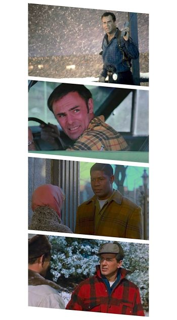 Bruce Willis in Die Hard 2 (1990), John Saxon in Moonshine County Express (1977), Dennis Haysbert in Far From Heaven (2002), and Rock Hudson in All That Heaven Allows (1955)