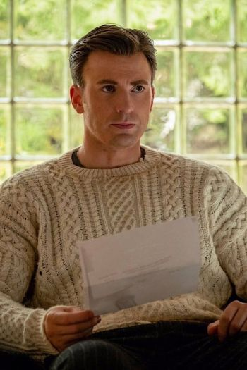 "Chris Evans as Hugh ""Ransom"" Drysdale in Knives Out (2019)"