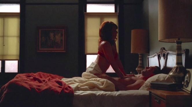 Erin Cummings and Jon Hamm on Mad Men