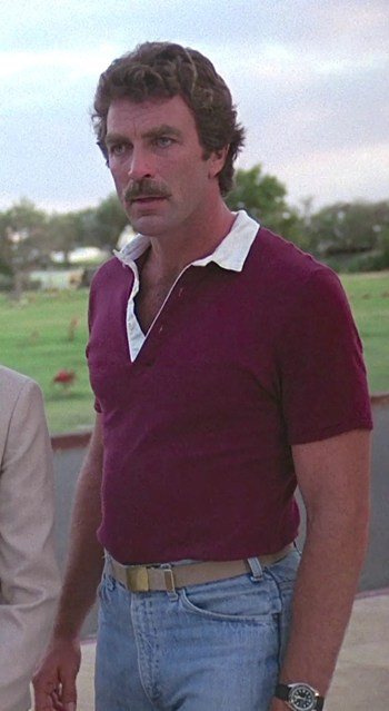"Tom Selleck as Thomas Magnum on Magnum, P.I. (Episode 1.18: ""Beauty Knows No Pain"")"