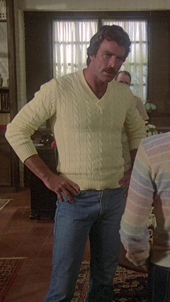 "Tom Selleck as Thomas Magnum on Magnum, P.I. (Episode 1.14: ""Adelaide"")"