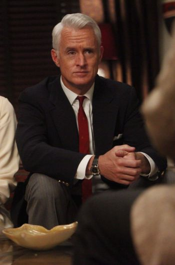 "John Slattery as Roger Sterling on Mad Men. (Episode 5.06: ""Far Away Places"")"