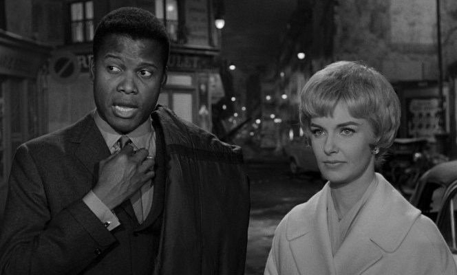 Sidney Poitier and Joanne Woodward in Paris Blues (1961)