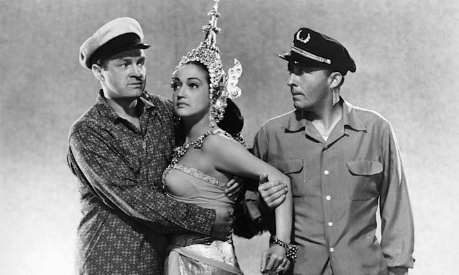 Bob Hope, Dorothy Lamour, and Bing Crosby in Road to Bali (1952)