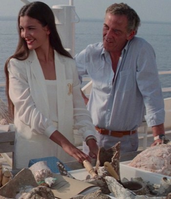 Carole Bouquet and Jack Hedley in For Your Eyes Only (1981)