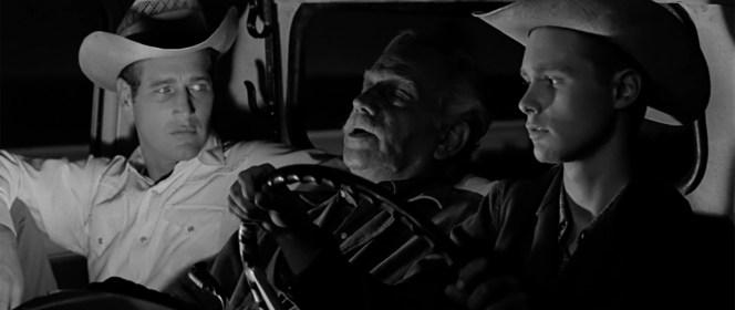 Paul Newman, Melvyn Douglas, and Brandon deWilde in Hud (1963)