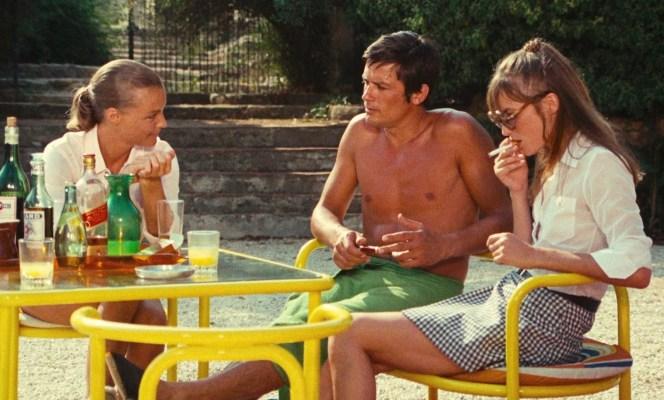 Romy Schneider, Alain Delon, and Jane Birkin in La Piscine (1969)