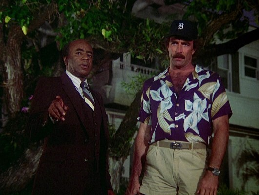 Roscoe Lee Browne and Tom Selleck on Magnum, P.I.