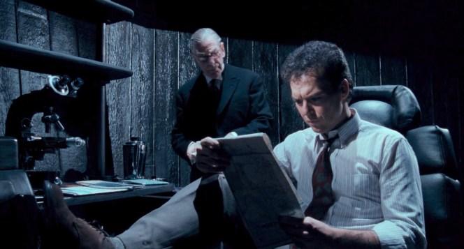 Michael Gough and Michael Keaton in Batman (1989)